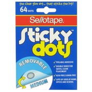 Sticky Dots Removable Pk64