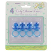 Baby Shower Favours - Blue Dummy Pk4