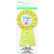 Yellow Mum To Be Award Ribbon Pk 1