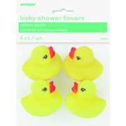 Rubber Ducks Party Favours Pk 4