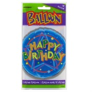 Balloon Foil 18in Dazzling Birthday Pk1