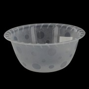 Frosted Plastic Bowl - Small 14cm Pk1