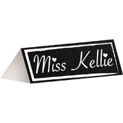 Double Sided Chalkboard Place Cards with Chalk (3.8cmx9.5cm) Pk 12