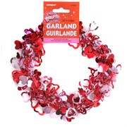 Garland Hearts Wire Foil 3.6m Pk1