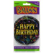 Balloon Foil 18in Happy Birthday Brilliance Pk1