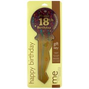 Keepsake Key 18 Birthday Burgundy Pk1