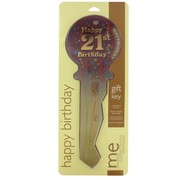 Keepsake Key 21 Birthday Burgundy Pk1