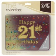 Keepsake Book 21 Birthday Burgundy Pk1