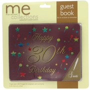 Keepsake Book 30 Birthday Burgundy Pk1