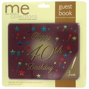 Keepsake Book 40 Birthday Burg Pk1