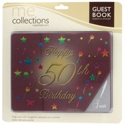 Keepsake Book 50 Birthday Burgundy  Pk1