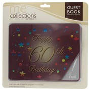 Keepsake Book 60 Birthday Burgundy Pk1