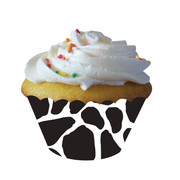 Large Cow Print Cupcake Wraps Pk 12