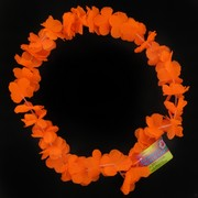 Orange Flower Lei Pk1