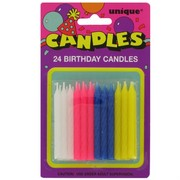 Candles Twist Multi Pk24 (Assorted Colours)