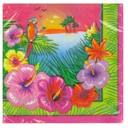 Hawaiian Luau Party Napkins - Lunch Pk16