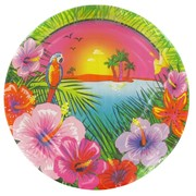 Luau Party Plates - Large 23cm Pk8