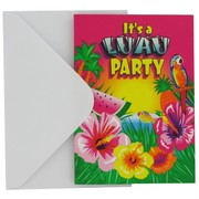 Invitations Luau Party Pk8