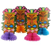 Mini Totem Honeycomb Decorations Pk4