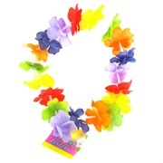 Headband Luau Party Rainbow Flower Pk1