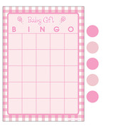 Baby Shower Bingo For 10 Players (Pink Dots) Pk 1