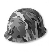 Operation Camouflage Grey Plastic Army Hat Pk 1