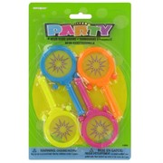 Party Favours - Neon Hand Drums Pk 4