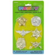 Party Favours - Assorted Badges Pk 6
