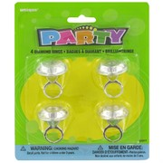 Party Favours - Diamond Rings Pk 4