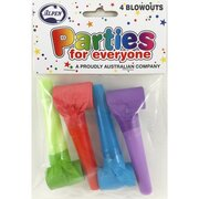 Assorted Party Blowouts Pk4 (Assorted Designs)