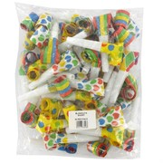 Assorted Party Blowouts Pk50 (Assorted Designs)