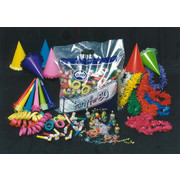 Party Pack Economy for 50 People Pk300 (Hats, Leis, Horns, Blowouts, Poppers & Streamers)
