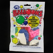 Balloons Assorted Shapes Pk25