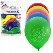 Balloons Happy Birthday Pk30 (Assorted Colours)
