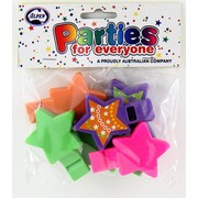Party Favours - 2 Tone Star Whistles Pk 6
