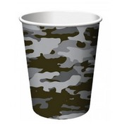 Operation Camouflage Grey Paper Cups Pk 8