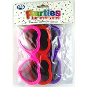 Hearts Sunglasses Favours Pk 3
