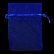 Bags Organza Electric Blue 10x7.5cm Pk10