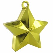 Balloon Star Weight Gold Pk1