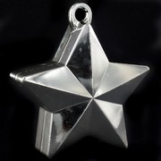 Balloon Star Weight Silver Pk1