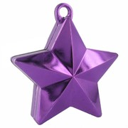 Balloon Star Weight Purple Pk1