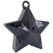 Balloon Star Weight Black Pk1
