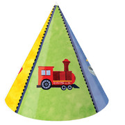 Planes, Trains, Trucks & Boats Party hats - On The Go Pk 8