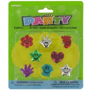 Party Favours - Groovy Metallic Rings Pk 8
