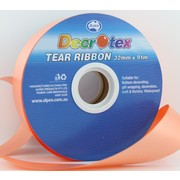 Orange Tear Ribbon (32mm x 91m) Pk 1
