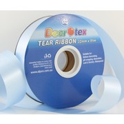 Light Blue Tear Ribbon (32mm x 91m) Pk 1