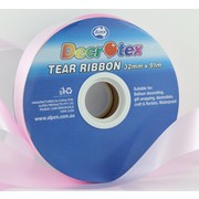 Light Pink Tear Ribbon (32mm x 91m) Pk 1