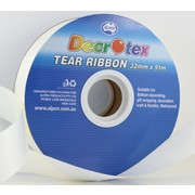 Ivory Tear Ribbon (32mm x 91m) Pk 1