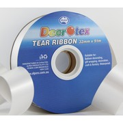 Silver Tear Ribbon (32mm x 91m) Pk 1