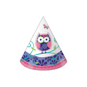 Owl Pal Birthday Party Hats Pk 8